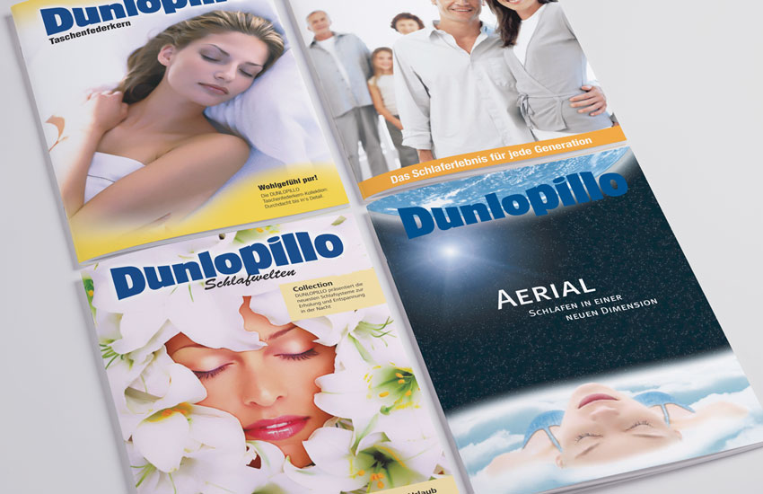 Corporate design dunlopillo referenz der werbeagentur for Werbeagentur offenbach